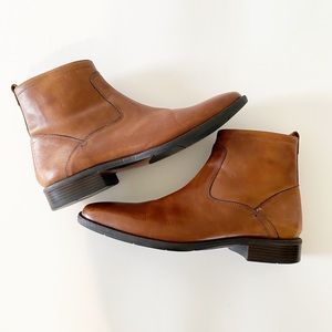 Johnston & Murphy Mens Tan Leather Boots